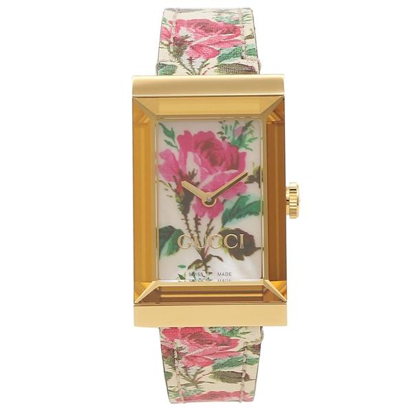 【返品OK】グッチ 腕時計 レディース GUCCI YA147406 ゴールド マルチ