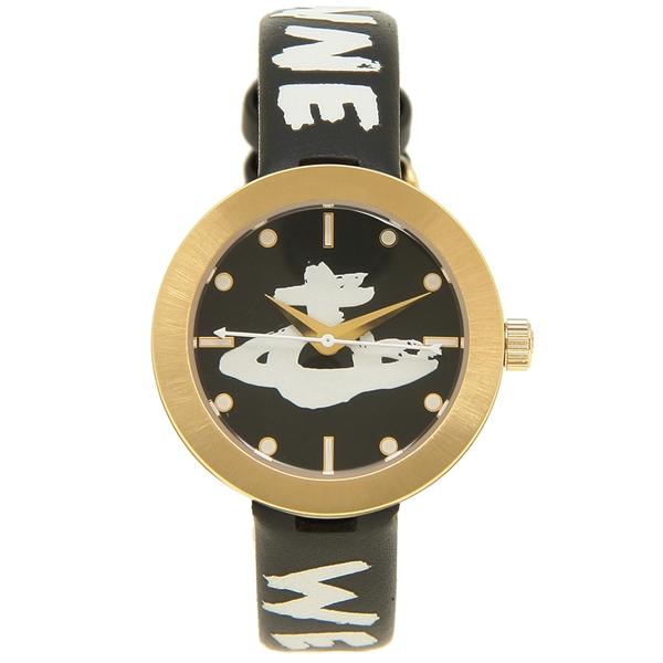 【6時間限定ポイント10倍】【返品OK】ヴィヴィアンウエストウッド 腕時計 レディース VIVIENNE WESTWOOD VV221GDBKSTD ブラック ゴールド