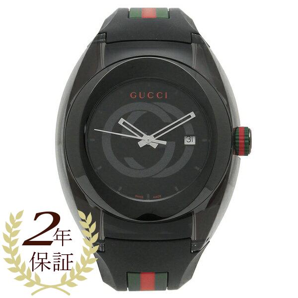 【6時間限定ポイント10倍】【返品OK】グッチ 腕時計 レディース メンズ GUCCI YA137107 ブラック