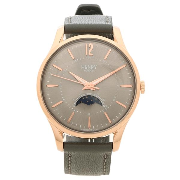 【6時間限定ポイント10倍】【返品OK】ヘンリーロンドン 腕時計 レディース メンズ FINCHLEY フィンチリー 34MM HENRY LONDON HL34-LS-0424 グレー