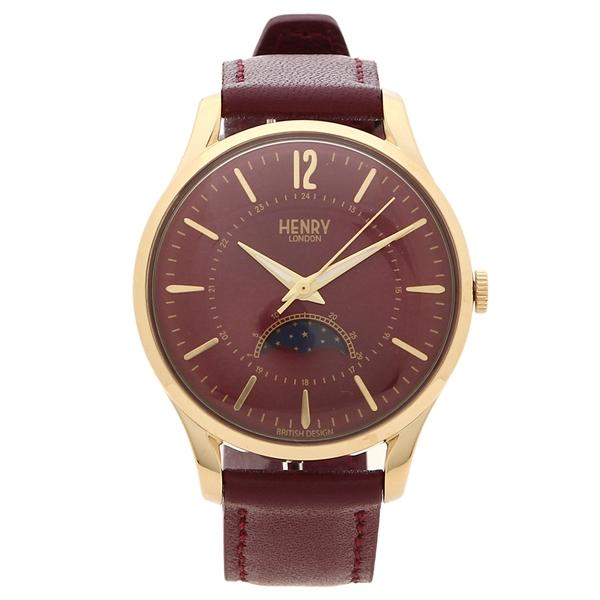 【返品OK】ヘンリーロンドン 腕時計 レディース メンズ HOLBORN ホルボーン 34MM HENRY LONDON HL34-LS-0428 レッド