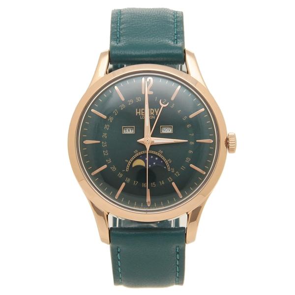 【返品OK】ヘンリーロンドン 腕時計 レディース メンズ STRATFORD ストラトフォード 39MM HENRY LONDON HL39-LS-0380 グリーン