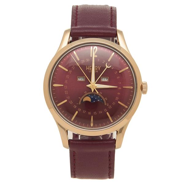 【返品OK】ヘンリーロンドン 腕時計 レディース メンズ HOLBORN ホルボーン 39MM HENRY LONDON HL39-LS-0426 レッド