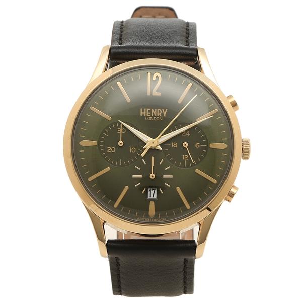 【返品OK】ヘンリーロンドン 腕時計 メンズ CHISWICK チズウィック 41MM HENRY LONDON HL41-CS-0106 グリーン