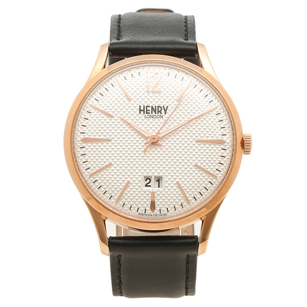 【6時間限定ポイント10倍】【返品OK】ヘンリーロンドン 腕時計 メンズ RICHMOND リッチモンド 41MM HENRY LONDON HL41-JS-0038 シルバー