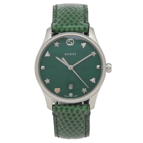 【期間限定ポイント5倍】【返品OK】グッチ 腕時計 レディースG-TIMELESS G-タイムレス29MM GUCCI YA126585 グリーン