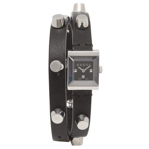 【期間限定ポイント5倍】【返品OK】グッチ 腕時計 レディースG-FRAME Gフレームロングストラップ GUCCI YA128520 ブラック