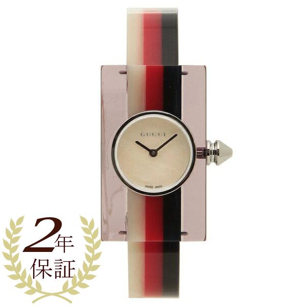 【6時間限定ポイント10倍】【返品OK】グッチ 腕時計 レディースVINTAGE WEB ヴィンテージウェブ スケルトン ミディアム GUCCI YA143523 シルバー レッド ブルー