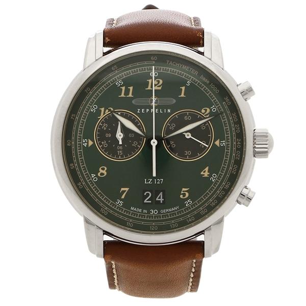 【返品OK】ツェッペリン 腕時計 メンズ LZ127 GRAF ZEPPELIN グラーフ 40MM ZEPPELIN 8684-4 ブラウン グリーン
