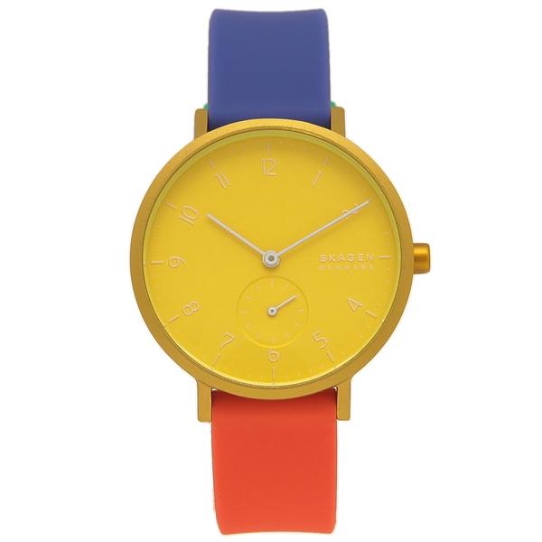 【返品OK】スカーゲン 腕時計 レディース SKAGEN SKW2847 イエロー マルチ
