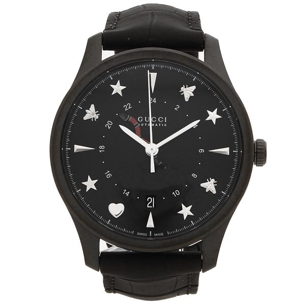 【期間限定ポイント5倍】【返品OK】グッチ 腕時計 メンズ GUCCI YA126333 40MM ブラック