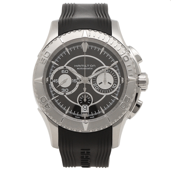 【返品OK】ハミルトン 腕時計 メンズ HAMILTON H37616331 44MM ブラック シルバー