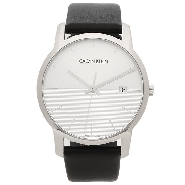 【6時間限定ポイント10倍】【返品OK】カルバンクライン 腕時計 メンズ CALVIN KLEIN K2G2G1CD 43MM ブラック シルバー