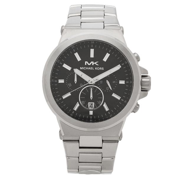 【返品OK】マイケルコース 腕時計 メンズ MICHAEL KORS MK8730 39MM シルバー ブラック