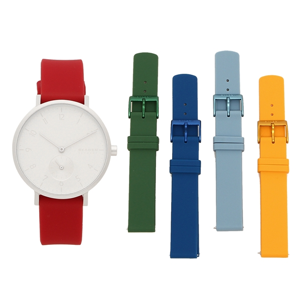 【6時間限定ポイント10倍】【返品OK】スカーゲン 腕時計 レディース メンズ SKAGEN SKW1124 36MM シルバー マルチ