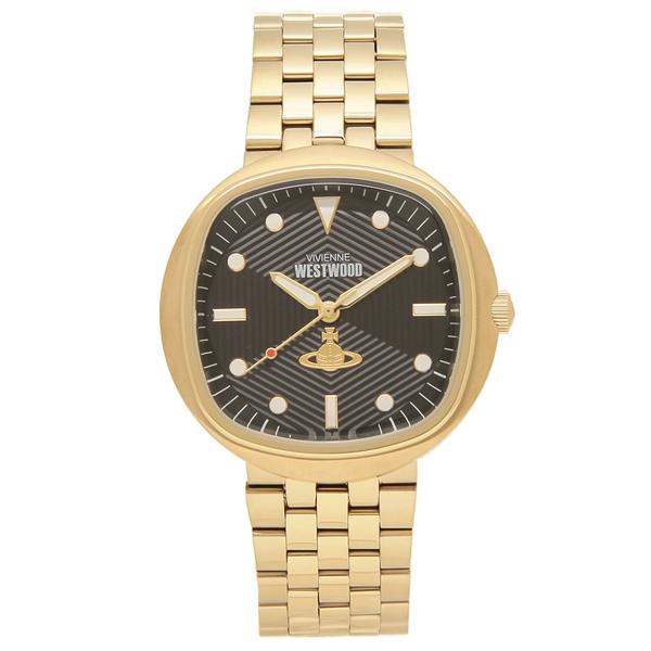【返品OK】ヴィヴィアンウエストウッド 腕時計 メンズ VIVIENNE WESTWOOD VV177GDBK 43MM ゴールド ブラック
