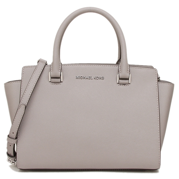 Michael Kors tote bag shoulder bag outlet Lady's MICHAEL KORS 35H8SLMS2L PEARL GREY light gray