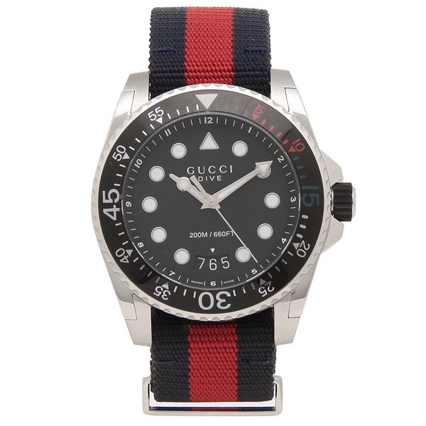 【6時間限定ポイント10倍】【返品OK】グッチ 腕時計 メンズ GUCCI YA136210 45MM グリーン レッド ブルー