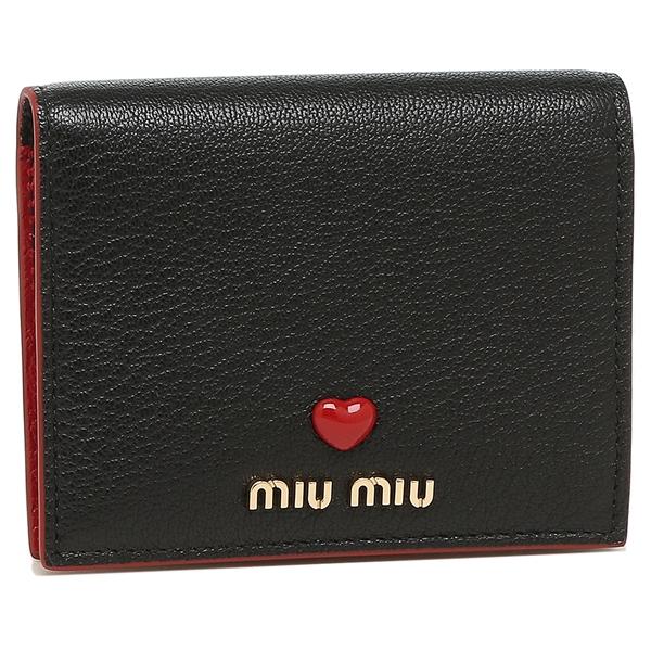 【4時間限定ポイント10倍】【返品OK】ミュウミュウ 折財布 レディース MIU MIU 5MV204 2BC3 F0002