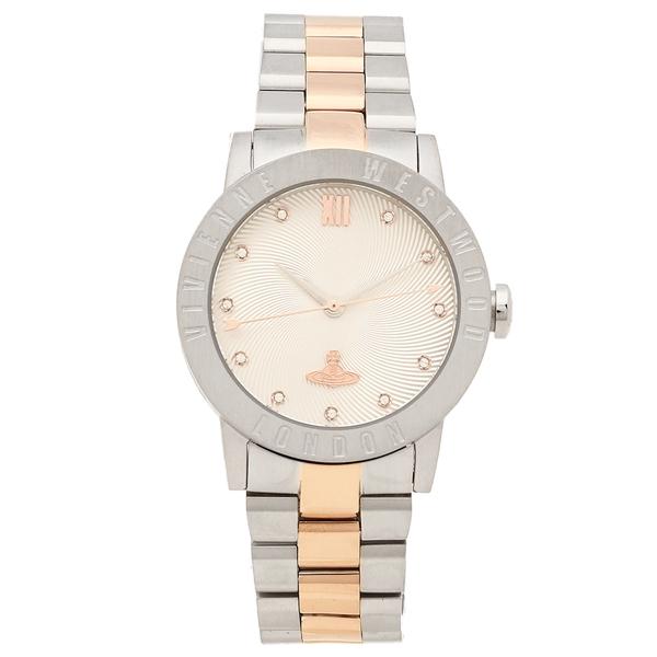 【返品OK】ヴィヴィアンウエストウッド 腕時計 レディース VIVIENNE WESTWOOD VV213SLRS 34MM シルバー ピンクゴールド