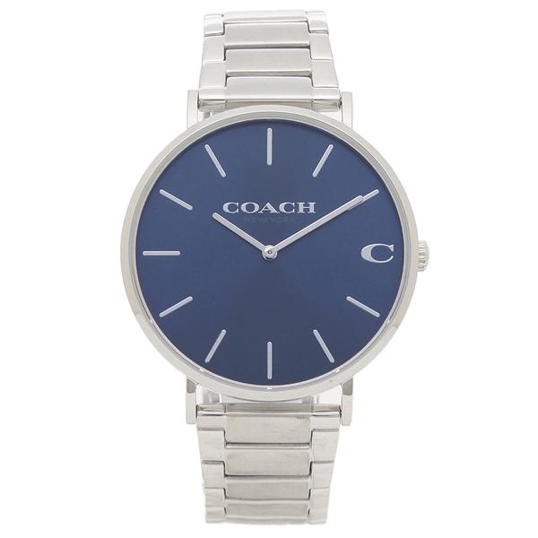 【72時間限定ポイント10倍】【返品OK】コーチ 腕時計 メンズ COACH 14602429 CHARLES チャールズ 41MM シルバー ブルー