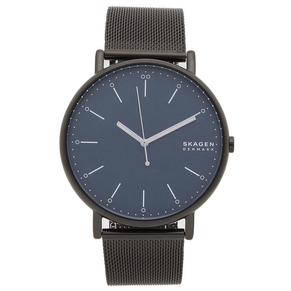 【6時間限定ポイント10倍】【返品OK】スカーゲン 腕時計 メンズ SKAGEN SKW6529 SIGNATUR シグネチャー メッシュ 45MM ブラック ブルー