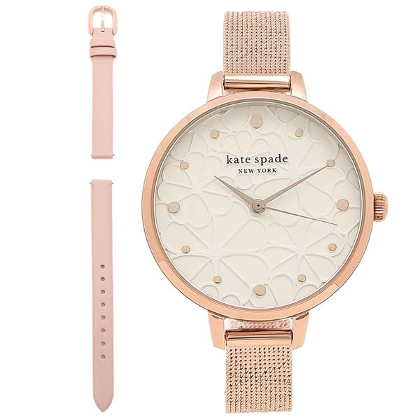 【6時間限定ポイント10倍】【返品OK】ケイトスペード 腕時計 レディース METRO メトロ 34MM セット KATE SPADE KSW1596 ホワイト ローズゴールド