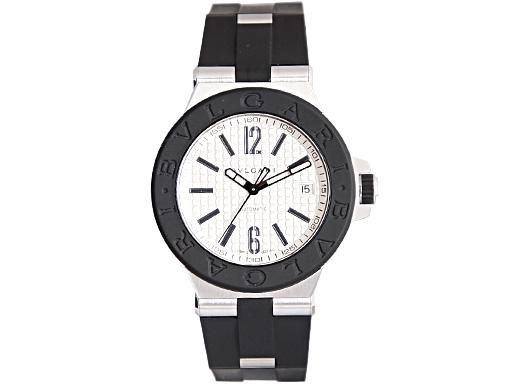 【超特価sale開催】 BVLGARI ブルガリ メンズ 腕時計 ディアゴノ ラバー オートマチック シルバー メンズ DG40C6SVD ウォッチ ウォッチ 腕時計 シリアル有, 田原本町:fbfb8670 --- mokodusi.xyz