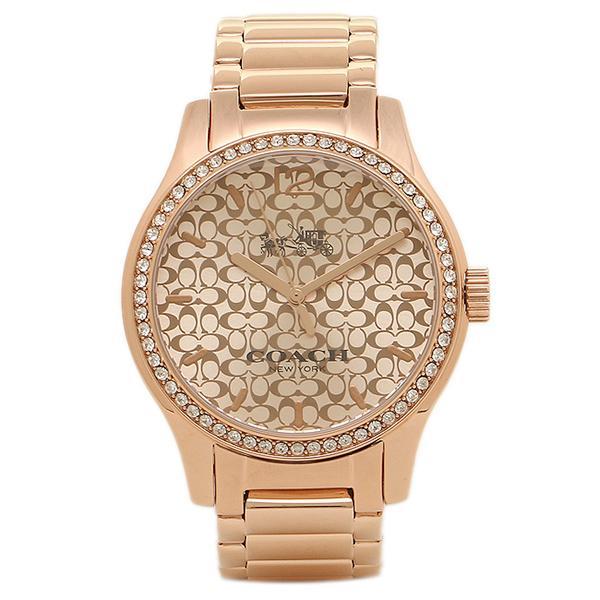 【訳ありアウトレット】コーチ 腕時計 レディース COACH W6214 B7M シルバー ローズゴールド【ラッピング不可商品】