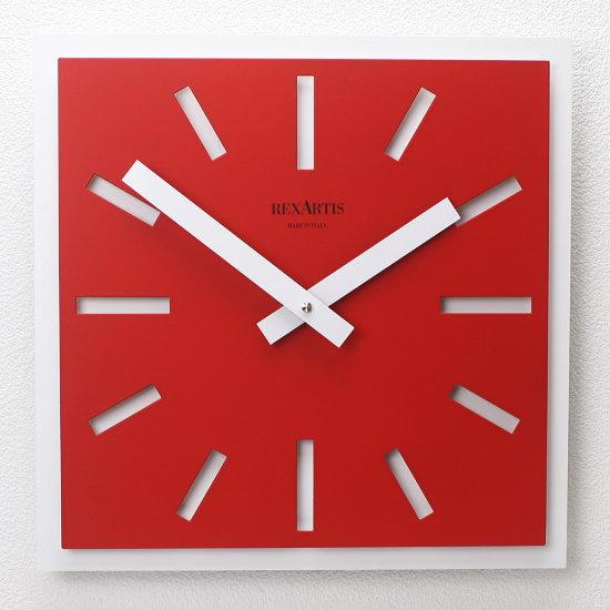 スクエアデザイン掛け時計 イタリア製ウォールクロック REXARTIS 【NAOS/ナオス】(壁掛け時計/おしゃれ時計/シンプルモダン/新築祝い/開店祝い/結婚祝い)