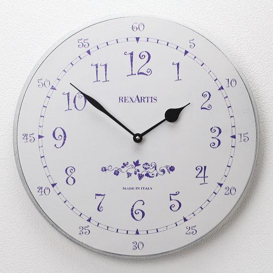 プロヴァンス風アンティーク調の掛け時計 イタリア製ウォールクロック REXARTIS 【PROVENS】(壁掛け時計/おしゃれ時計/シンプルモダン/新築祝い/開店祝い/結婚祝い)