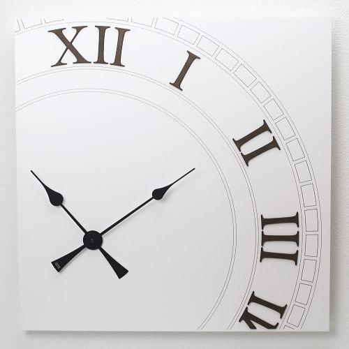 【大きい時計】イタリア製アートパネルクロック i DETTAGLI 【ROMA】アナログ ローマ数字 掛け時計 壁掛け時計 おしゃれ 掛時計 開店祝い 新築祝い ビックサイズ 店舗 ホテル サロン オフィス クリニック エントランス シンプル モダン デザイン