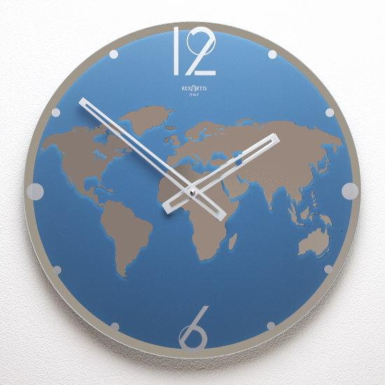 イタリア製ウォールクロック REXARTIS 【LAND】(壁掛け時計 おしゃれ時計 アート インパクト シンプル モダン 新築祝い 開店祝い 結婚祝い アナログ サロン クリニック オフィス )