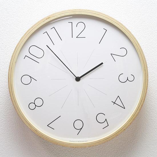 イタリア製デザイナーズウォールクロック Diamantini&Domeniconi 【LOROLOGIO】(新生活 壁掛け時計 おしゃれ時計 シンプル モダン 新築祝い 開店祝い 結婚祝い アナログ 木製 木目)