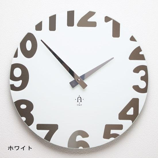 【イタリア製】おしゃれ掛け時計 ウォールクロック REXARTIS 【METROPOLITAN】壁掛け時計 アナログ シンプル モダン 新築祝い 開店祝い 結婚祝い