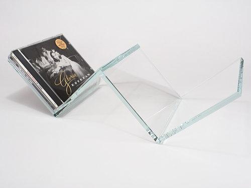 イタリア製品 ガラス製CDホルダー OMODOMO 【VIVA】CDラック 収納 贈り物 ギフト クール