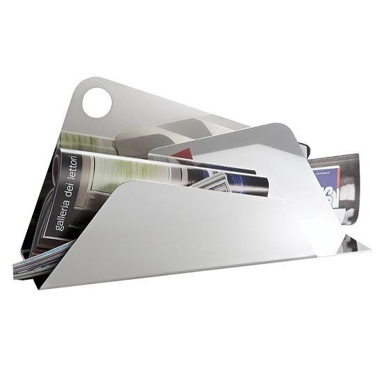【SALE 30%OFF!】 イタリア製 ステンレス製マガジンラック ELLEFFE DESIGN 【DESIGN-AB070】クールアイテム リビング メタル 無機質 ブランド 高品質 アート オブジェ デザイン