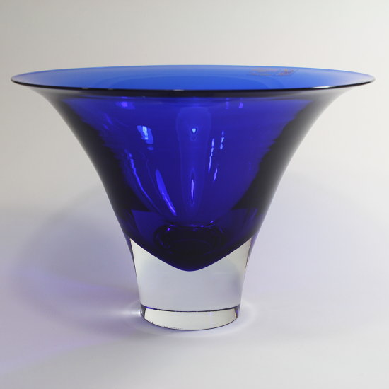 ベネチアンガラス・ムラノグラスのフラワーベースGambaro & Poggi 【SOMMERSO-200】ブルー 上品で美しい最高級品