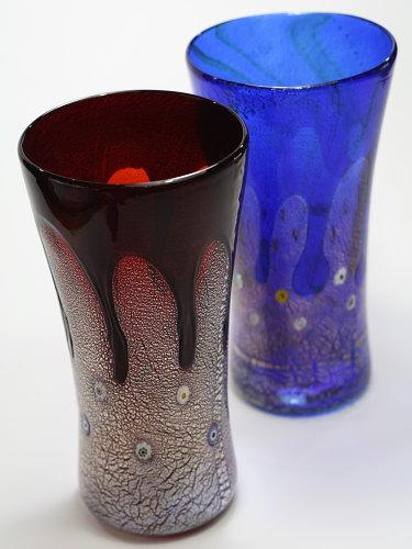 ベネチアガラスの花瓶 ZECCHIN【GOCCIA H25】花器 フラワーベース おしゃれ モダンガラス シンプル 新築祝い 開店祝い 結婚祝い インテリア雑貨 ブランド花瓶 ベネチアンビーズ