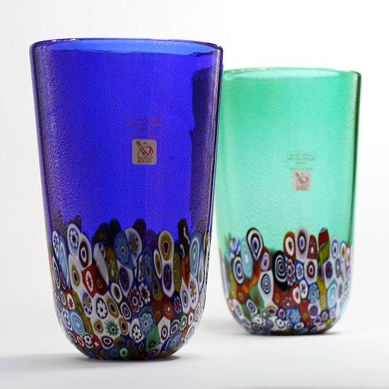 ベネチアングラス・ムラーノグラスの花瓶 Gambaro & Poggi 【MURRINE-1623】高品質で美しいブランド花瓶