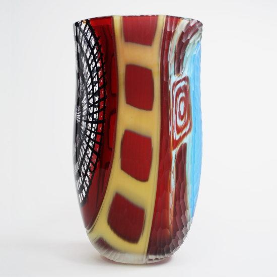 ヴェネチア・ムラーノグラスのフラワーベース Gambaro & Poggi 【Rainbow collection V01】(イタリア製花瓶/おしゃれ/モダン/ガラス/シンプル/新築祝い/開店祝い/結婚祝い/インテリア雑貨)】