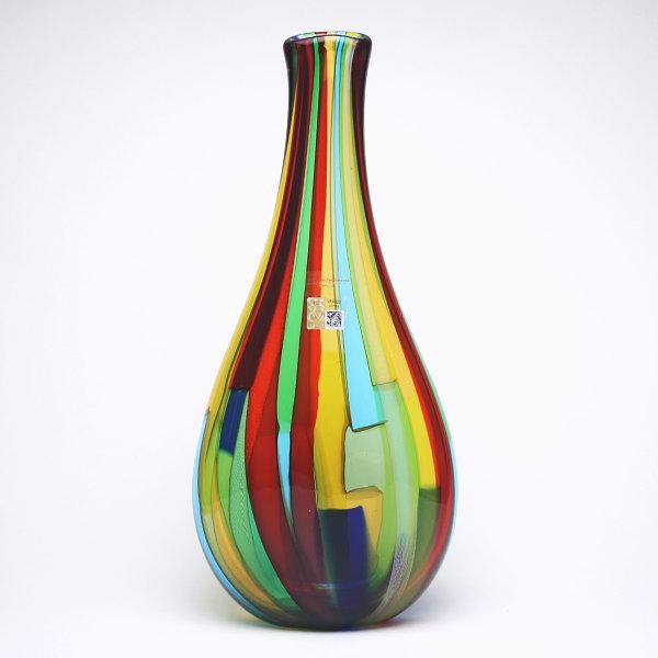 ベネチアングラス・ムラーノグラスの花瓶 マルチカラー GAMBARO & TAGLIAPIETRA【LIRI A CANNE-1734D】