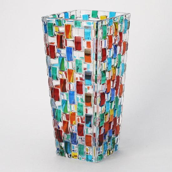 【イタリア製】デザインが目を引くお洒落なガラス製フラワーベース ZECCHIN 【BOSSANOVA H20】