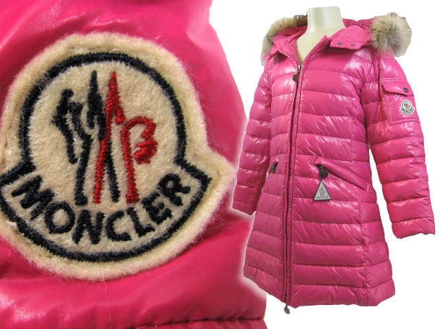 MONCLER JUNIOR down jacket PASC59 N0T44 50263 pink フードファーコート MONCLER Junior Super rare jumper fur fs3gm