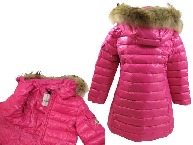 74611f4ae ★○MONCLER JUNIOR down jacket PASC59 N0T44 50263 pink food fur coat Monk  rail youth hard rare jumper fur
