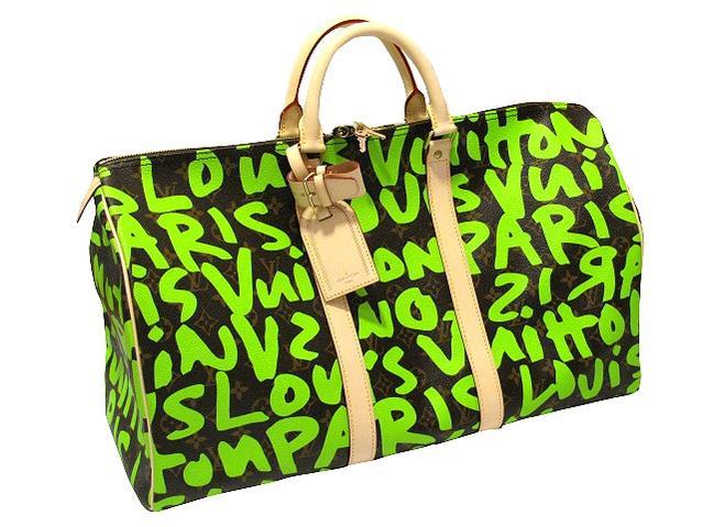 8ac5f4c159b CUORE  1 LOUIS VUITTON graffiti keepall 50 M 93700 Monogram green Louis  Vuitton LV Stephen Sprouse bag limited   Rakuten Global Market