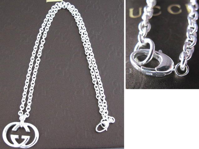 06c2a722abc GUCCI Gucci interlocking grip G necklace 190484 J8400 8106 GG logo silver  Bullitt pendant