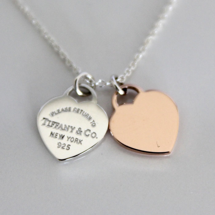 Cuore rakuten global market tiffany ampco tiffany rtt double tiffany rtt double heart pendant ampamp necklace mini mozeypictures Images