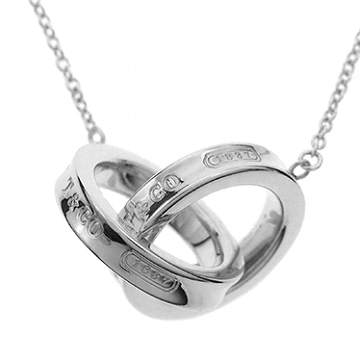 f1d202d55 Tiffany 1837 interlocking grip circle pendant necklace Small 16in 22992139  ...