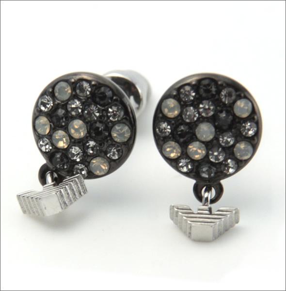 阿玛尼 EGS1968040 老鹰图案水钻耳环不锈钢
